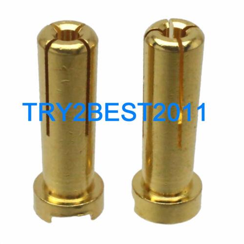 Bullet Connectors 2pcs 5MM Male Low Profile Solder Type Banana Plugs