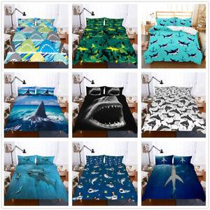 3D-Sea-Shark-Bedding-Set-Duvet-Cover-Pillowcase-Quilt-Comforter-Cover-Animal