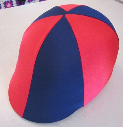 Horse Helmet Cover ALL AUSTRALIAN MADE Navy and Red Any size you need