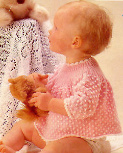 Free Knitting Patterns For Angel Babies : 2 COLOUR BABY ANGEL TOP KNITTING PATTERN (143) eBay