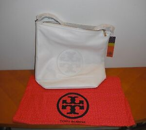 a389f6c60916 Details about Tory Burch Kipp Hobo New Ivory 102 White Purse Leather BRAND  NEW AUTHENTIC NWT