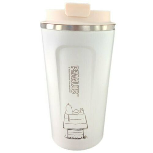 Snoopy Tumbler 17 Oz Stainless Steel Vacuum Insulated Tumbler with Lids White...