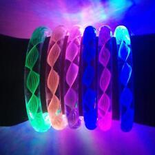 Colors Party Flashing Light-up Acrylic Wristband Bangle LED Bracelets