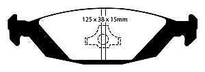 DP3635C EBC Redstuff Brake Pads