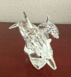 SWAROVSKI-DOLPHINS-MOTHER-AND-CHILD-034-LEAD-ME-034-SCS-90-MSt-FOR-PARTS-ONLY