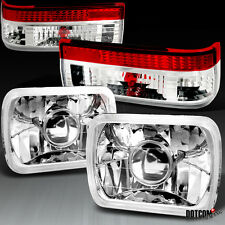 83-87 Toyota Corolla AE86 Replacement Projector Headlights+Red Clear Tail Lamps