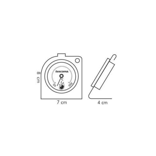 Termometro da forno Tescoma acciaio inox 636154 da 50 a 300°C Gradius Rotex