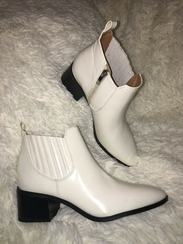 Franco Sarto Alesso White Ankle Boots Women's sz 6 new