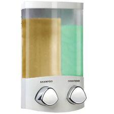 Croydex Euro Duo montato a parete doppia BALSAMO Shampoo Dispenser Doccia Bianco