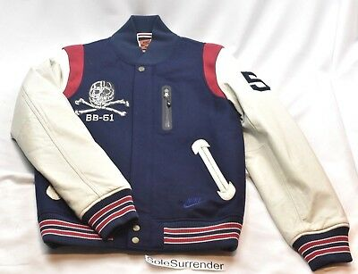 Nike BB-51 Destroyer Jacket - SMALL -NEW- 522909-481 White Navy c7ace2dfe
