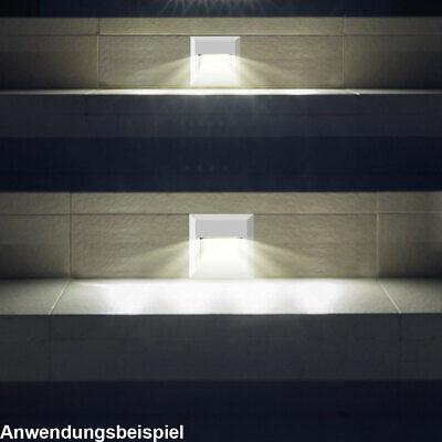 Edelstahl LED Boden Einbau Strahler Tritt Stufen Leuchte Außen Beleuchtung IP65