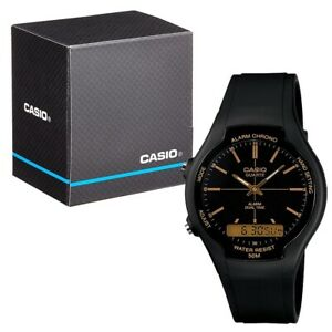 Casio Collection Analogue and Digital LCD Watch with Chrono etc. AW-90H-9EVEF