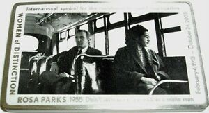 ROSA-PARKS-GEOCOIN-ANTIQUE-SILVER-NEW-U-T