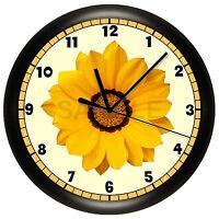 Yellow Daisy Wall Clock Decorative Flower Room Decor Gift Gerber Floral