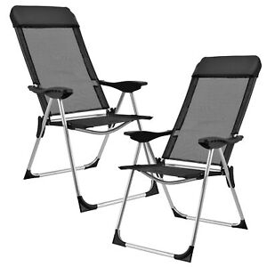 Alluminio poltrona pieghevole giardino sedia campeggio sedia poltrona B-Ware