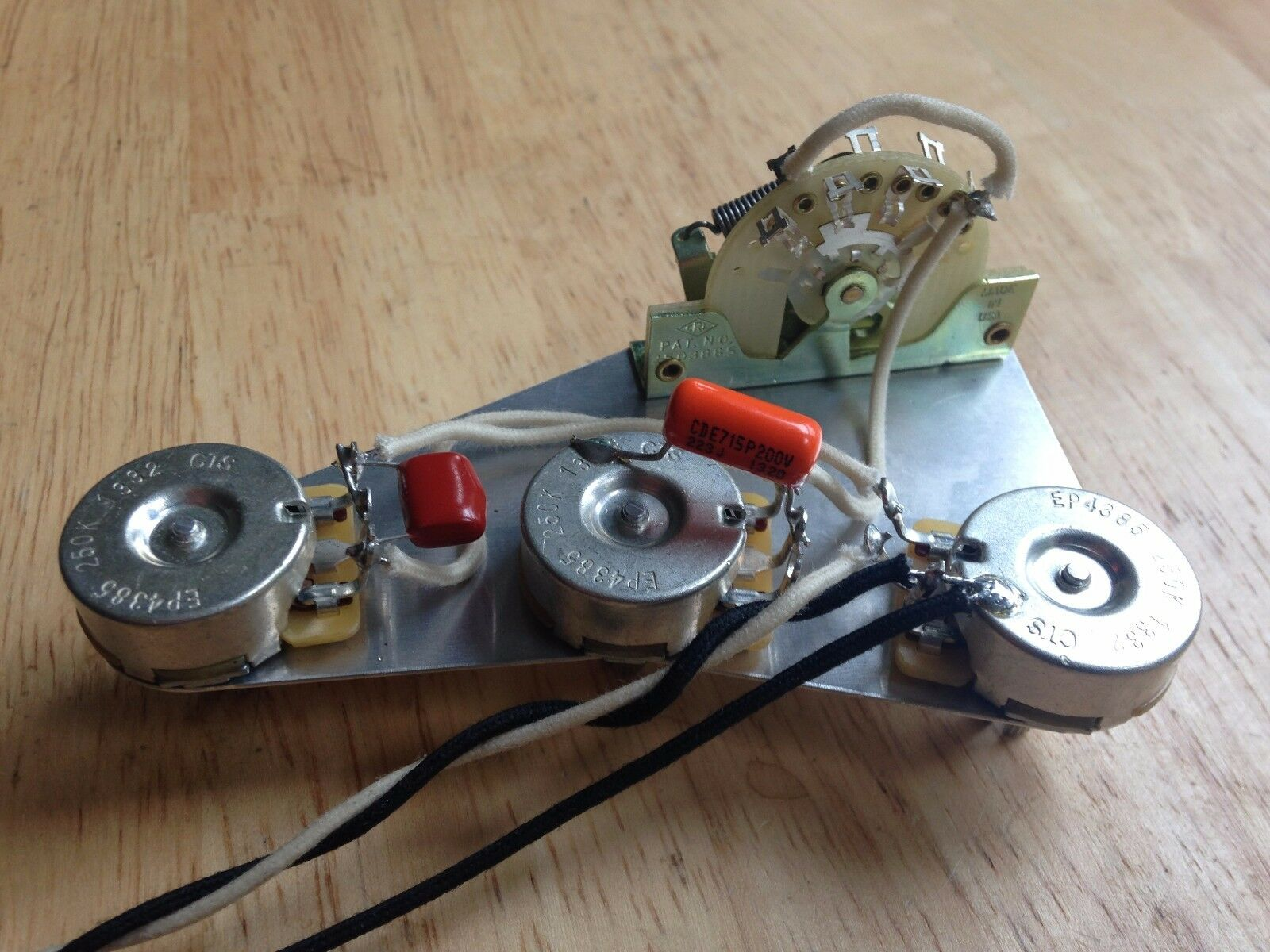 PTB Passive Treble and Bass Upgrade Wiring Harness for Fender Stratocaster