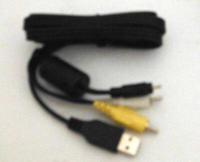 A//V de Audio Video Av Tv Cable Lead Para Nikon Coolpix L5 P6000 L25 L120 S500 Cámara