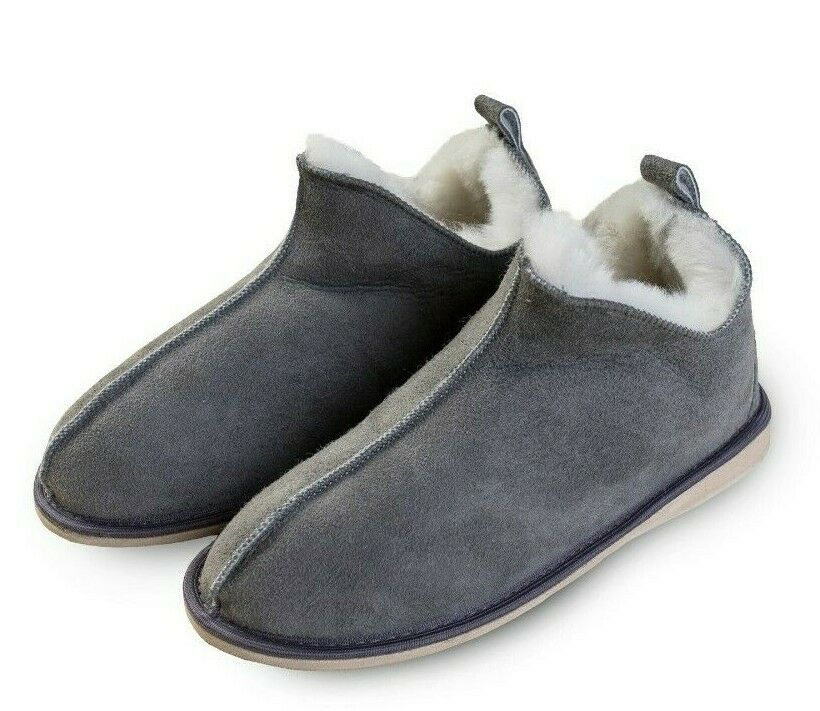 Size 10 GREY WOMEN/'S MERINO WOOL BOOTS WARM COZY SLIPPERS MOCCASINS CHUNI