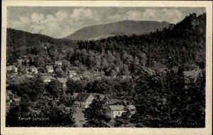 Jonsdorf-im-Zittauer-Gebirge-DDR-s-w-AK-1955-gelaufen-Panorama-mit-dem-Hochwald
