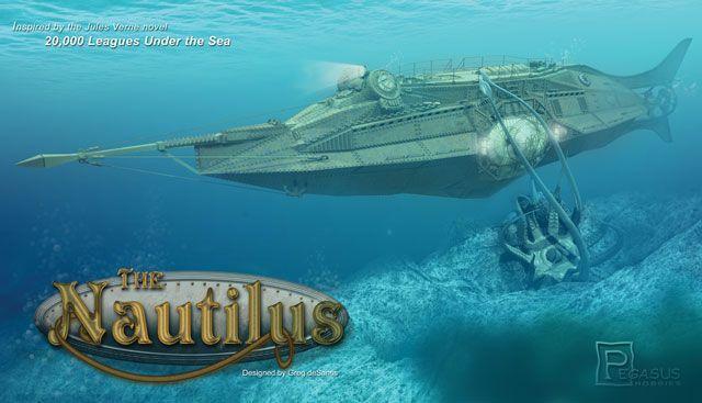 2013 0Pegasus Hobby Jules Vernes Nautilus Submarine-kit in scale 1 144