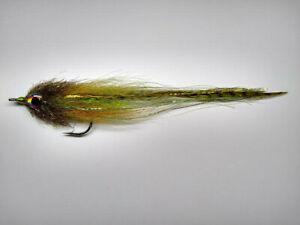 Flatwing Foxy Flash Minnow 1//0 Largemouth Bass Fly Fishing Streamer Tan