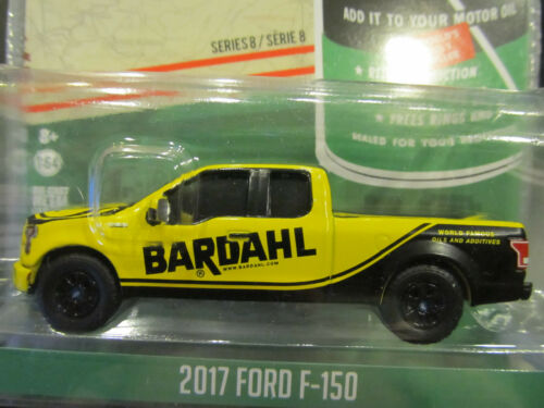 1//64 Greenlight BARDAHL 2017 Ford F-150 Pickup Truck Yellow Black Real Riders