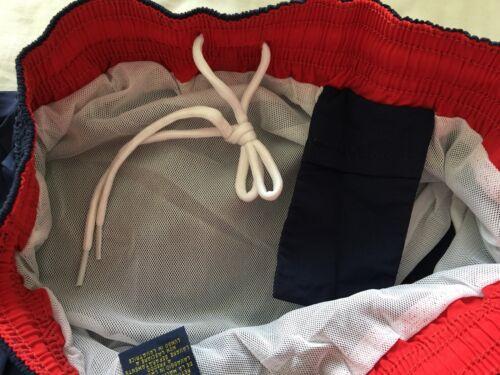 Ralph LAUREN POLO navy beach pantaloncini con logo rosso taglie M-XL 2XL NUOVO con etichetta