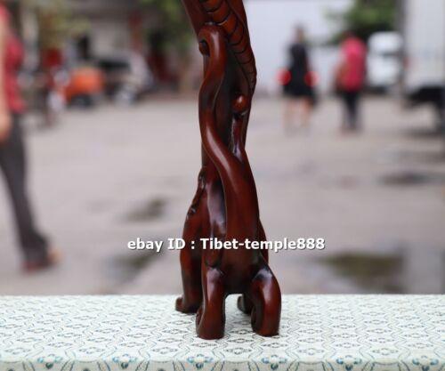 33 CM China Boxwood Handwork Dragon writing brush pen rack penholder sculpture