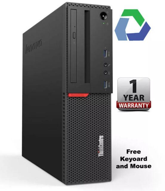 LENOVO THINKCENTRE M800 SFF I7-6700 @ 3.40GHZ 16GB 256GB SSD WIN10 PRO