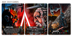 Darth Maul Count Dooku Inquisitor X-wing FFG Star Wars PLR Alternate Art Card
