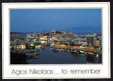 Dated 1988 - View of Agios Nikolaos City Harbour, Island of Kriti, Greece