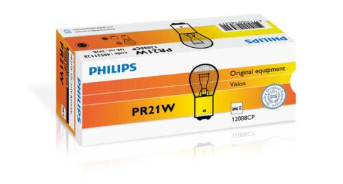 pacote com 10 Philips PR21W Vision convencional Interior /& Sinalização 12V 21W 12088CP