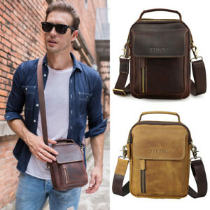 79e6dc8c53 Men Genuine Leather Shoulder Bag For iPad Mini Messenger Bag ...
