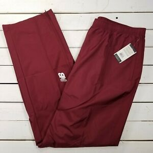 New-Balance-NB-Double-Session-Track-Pants-Mens-XXL-Maroon-Warm-Ankle-Zip-NBMR1