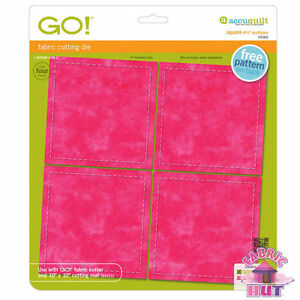 "55060- New Accuquilt GO! Square 4 1/2"" 4.5 inch Multiples Cutter Quilt Block Die"