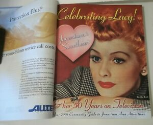 Lucille-Ball-Jamestown-N-Y-Phone-Book-2001-Celebrating-Her-50-Yrs-On-Television