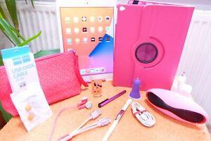 wie NEU mit XXL EXTRAS I Apple iPad Pro 1 l 128GB Weiss Pink Rose Rosa 9,7 Zoll