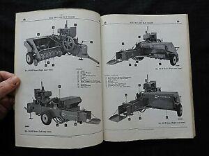1958 INTERNATIONAL HARVESTER McCORMICK 56-T 56-W BALER PARTS CATALOG MANUAL NICE