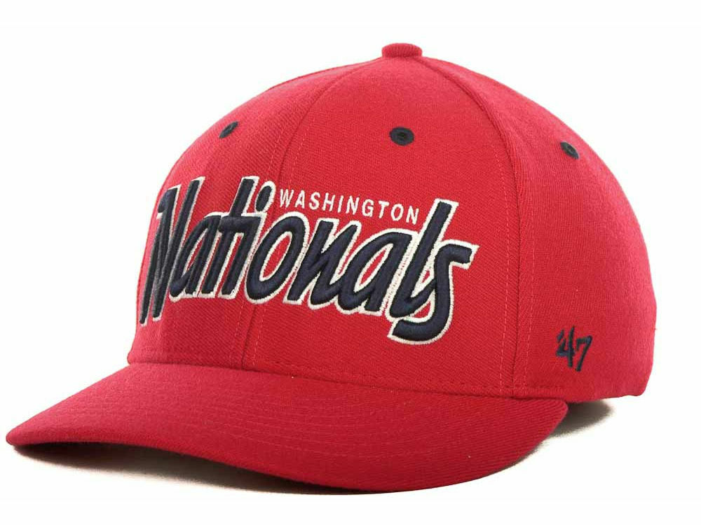 54c9e273449 ... order washington nationals baseball men 47 brand mlb baseball nationals  retro script stretch fit hat cap ...
