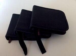 Details zu 3 Stück Hama CD-Tasche Wallet Etui Hülle schwarz 16 CDs Nylon  Aufbewahrung