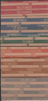 36 Penny Pennies Coin Wrappers Rollers 1 cent-----RE18