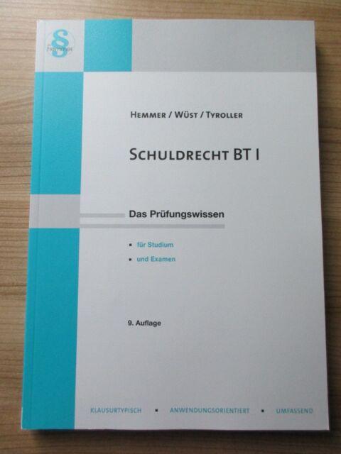 Schuldrecht BT I von Michael Tyroller, Achim Wüst und Karl E. Hemmer (2015)