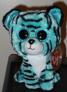 "Ty Beanie Boos - TESS the Justice Exclusive Tiger ~ 6"" ~ 2015 NEW ~ IN HAND"
