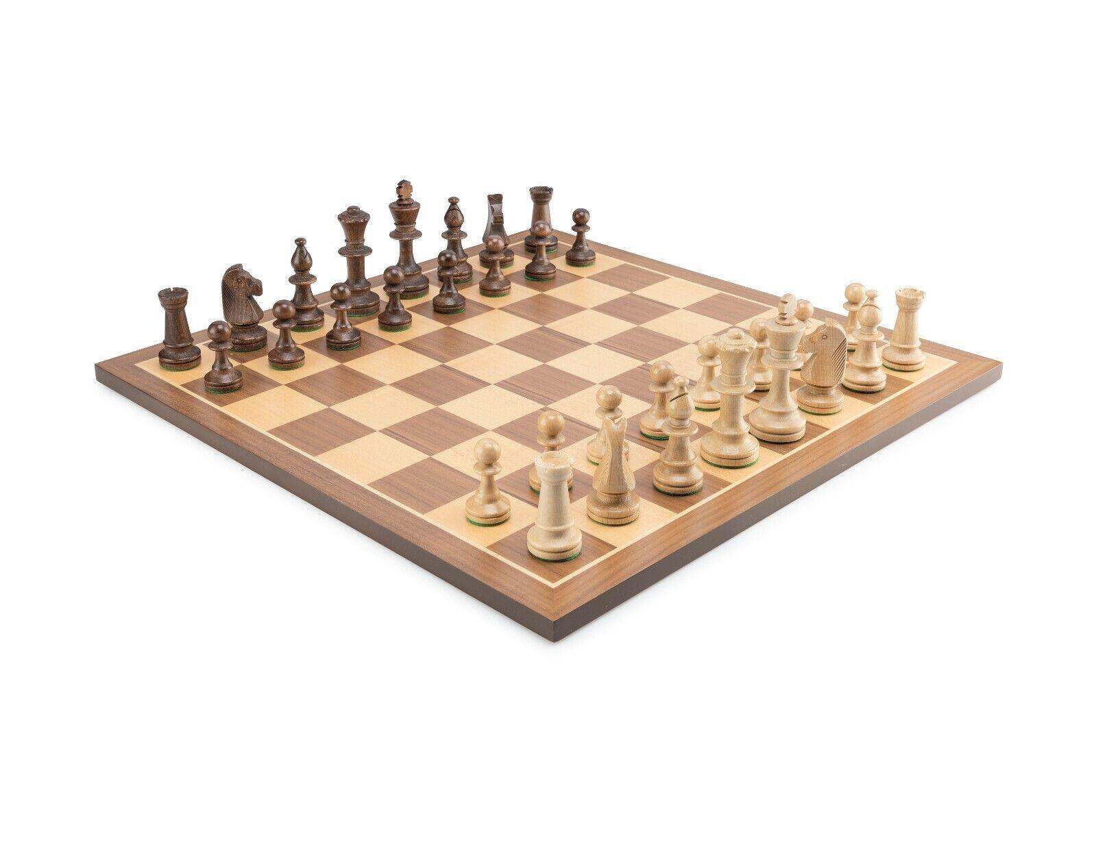 Standard wooden tournament chess set  ESSEN STAUNTON - weighted,felted pieces