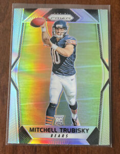 MITCH TRUBISKY 2017 PANINI PRIZM RC ROOKIE SILVER REFRACTOR CHICAGO BEARS 🔥 F