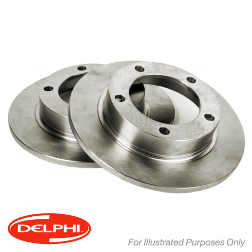 BG3857 Genuine Delphi Rear Solid Brake Discs Set Pair