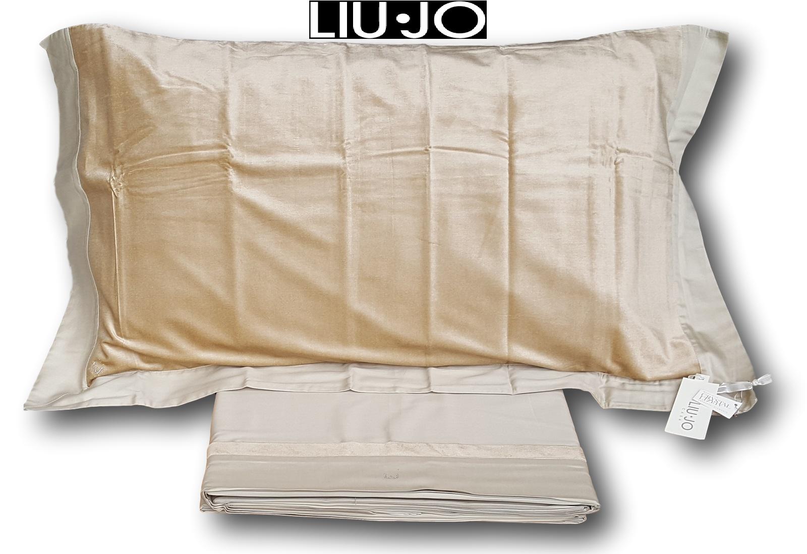 Liu Jo. Set Bett, Blätter, Teatro. Satin und Velluto. Hochzeits-, 2 Plätze