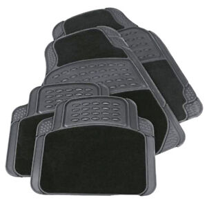 4PCS-HEAVY-DUTY-UNIVERSAL-BLACK-CARPET-amp-RUBBER-CAR-MAT-SET-NON-SLIP-VAN-MATS