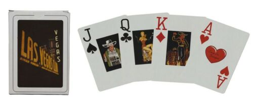 NEW LAS VEGAS VINTAGE DECK 2 JOKERS VINTAGE FACE CARDS * 52 PLAYING CARDS