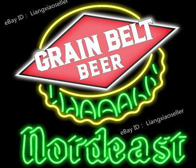 24X20 Inches Grain belt Beer nordeast REAL NEON SIGN BEER BAR PUB AD Lamp  LIGHT | eBay